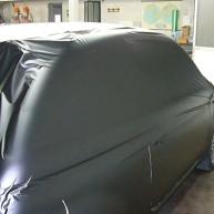 fiat 500 bicolore nero opaco e pelle nera wrapping pellicola spinaudio (108)