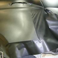 fiat 500 bicolore nero opaco e pelle nera wrapping pellicola spinaudio (130)