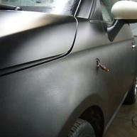 fiat 500 bicolore nero opaco e pelle nera wrapping pellicola spinaudio (144)