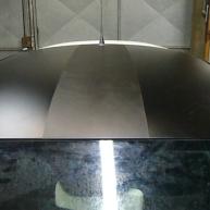 fiat 500 bicolore nero opaco e pelle nera wrapping pellicola spinaudio (175)