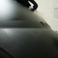 fiat 500 bicolore nero opaco e pelle nera wrapping pellicola spinaudio (52)